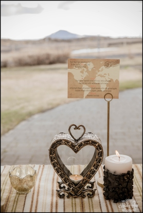 Iceland Wedding Centerpiece