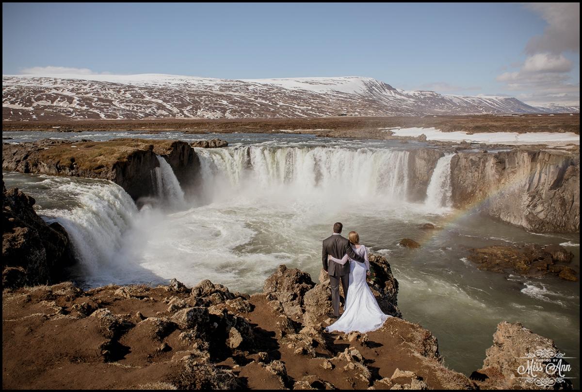 Godafoss Waterfall Wedding Iceland Elopement Photographer