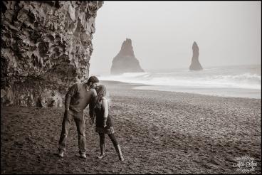 Black Sand Beach Iceland Wedding