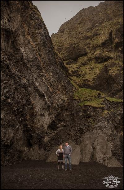 Iceland Post Wedding Session Black Sand Beach