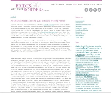 Iceland Wedding Planner Featured on Brides without Borders