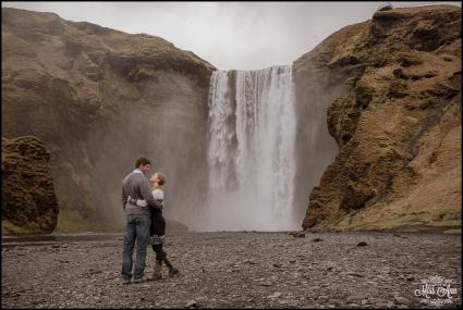 Skogafoss Waterfall Wedding