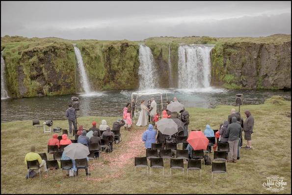 Iceland Secret Waterfall Wedding