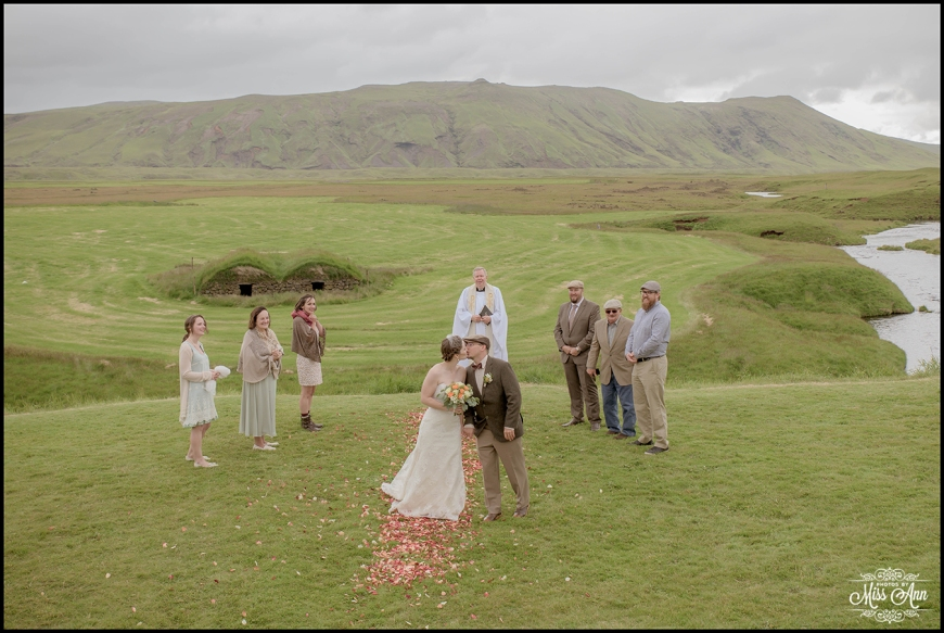 Iceland Wedding Kiss Keldur Sod Farm