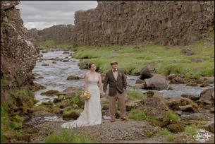 Iceland Wedding Oxarafoss Waterfall-4