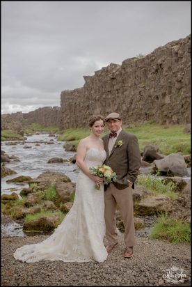 Iceland Wedding Oxarafoss Waterfall-5