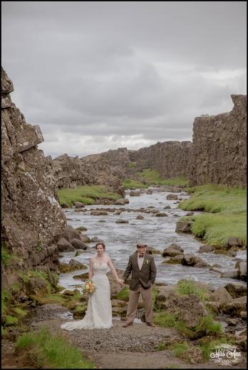 Iceland Wedding Oxarafoss Waterfall