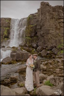 Oxarafoss Waterfall Iceland Wedding-1
