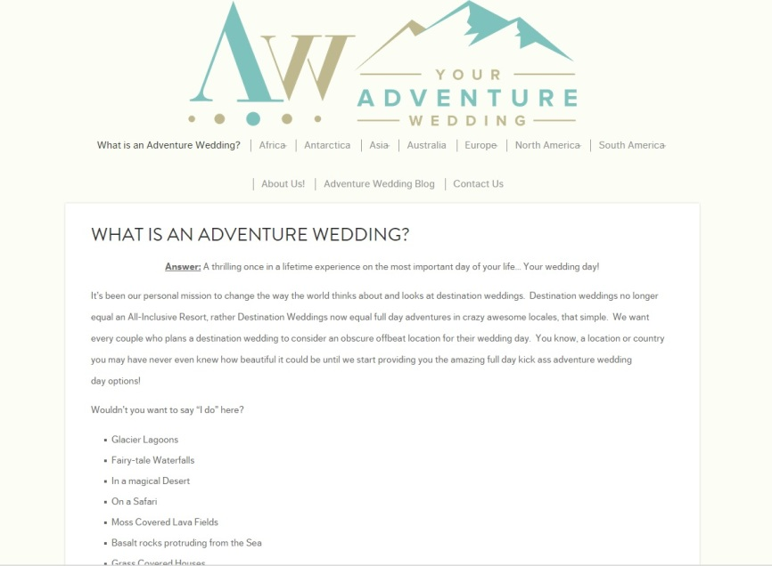 Your Adventure Wedding
