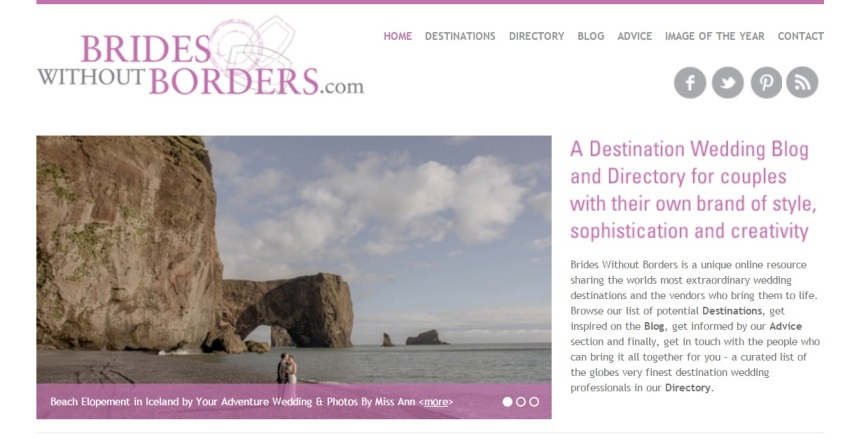 Adventure Wedding Photographer Published on Brides without Borders