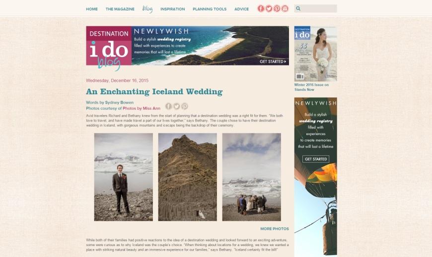 Destination I Do Blog Feature Iceland Wedding
