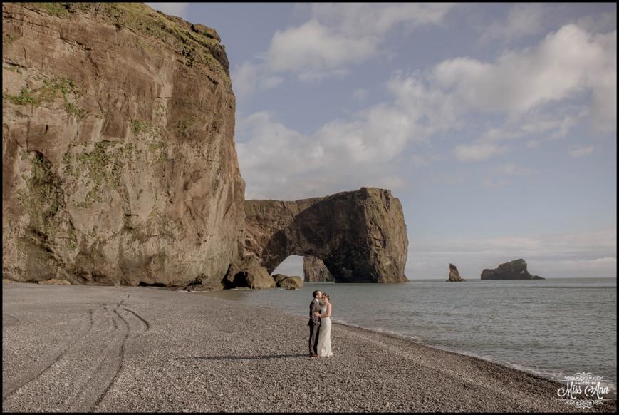 Iceland Elopement Dyrholaey Beach