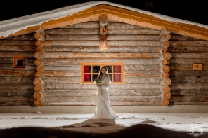 Winter Wedding Bride Photos