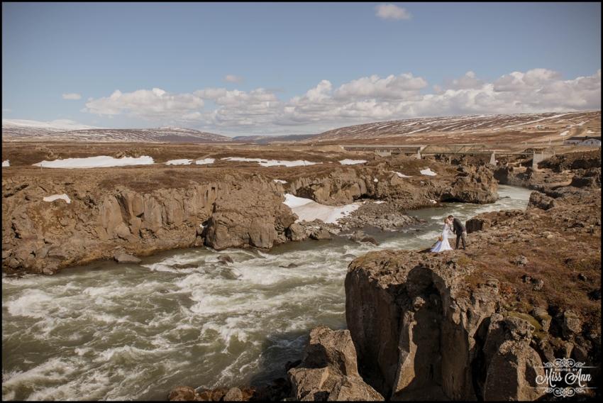 Iceland Wedding Photographer Godafoss Canyon