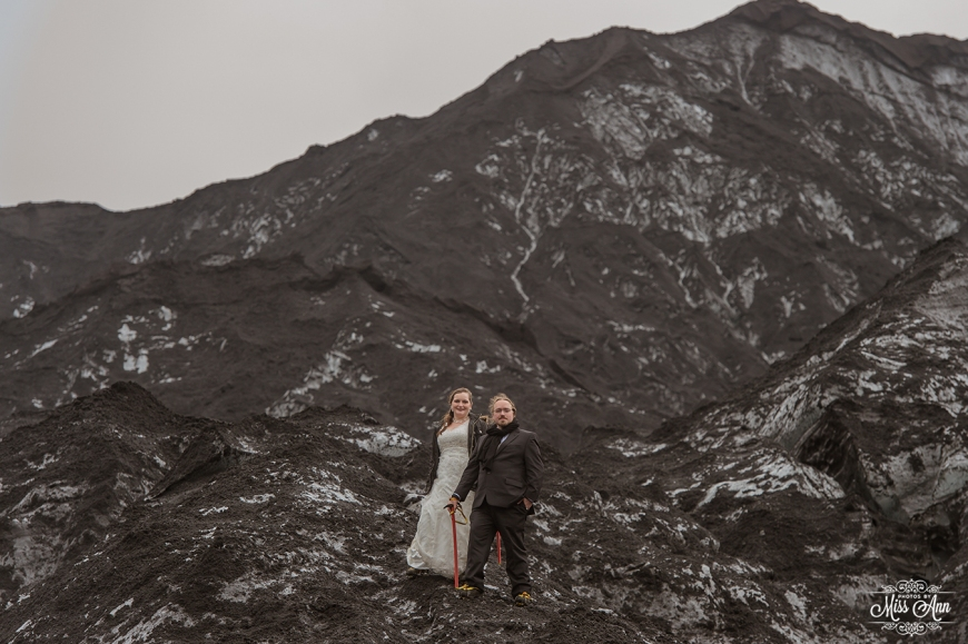 Iceland Elopement on a Glacier - Photos by Miss Ann