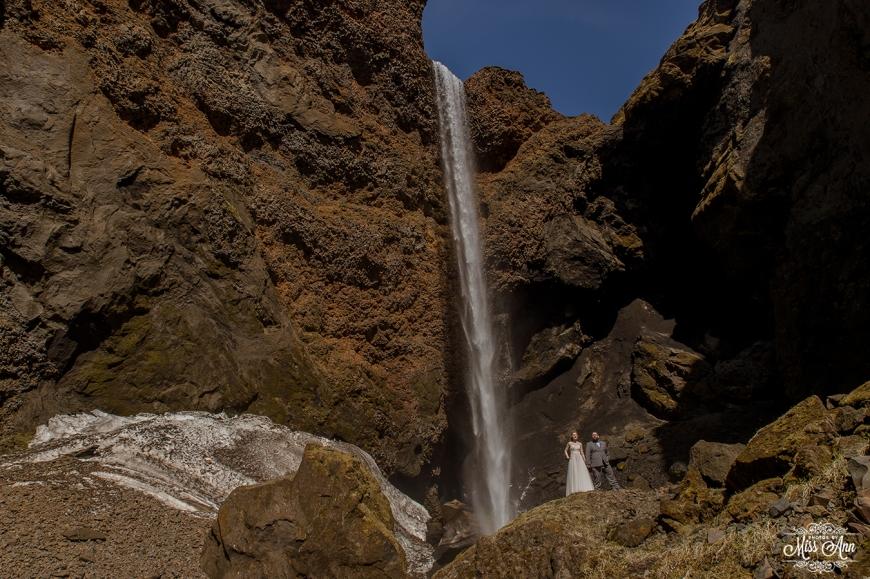 Iceland Waterfall Wedding Photographer