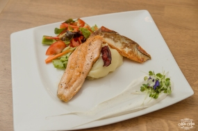 Icelandair Vik Wedding Reception Food Arctic Char
