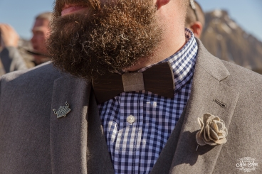 Wooden Bow Tie - Iceland Wedding Groom Details