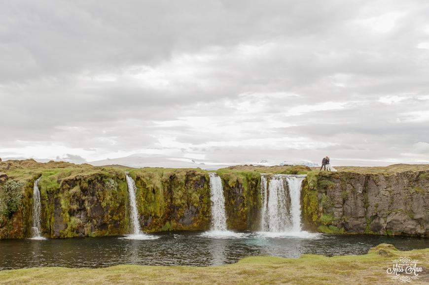 Iceland Secreat Waterfall Wedding Photographer