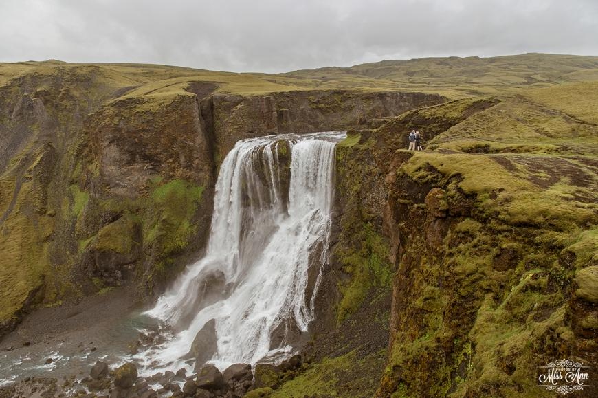 Iceland Wedding Photographer - Secret Waterfall Wedding Location