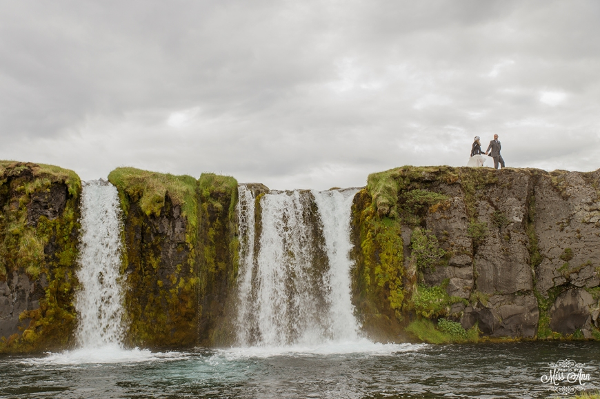 Waterfall Wedding in Iceland - Photos by Miss Ann