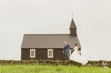 Iceland Little Black Church - Hotel Budir Wedding