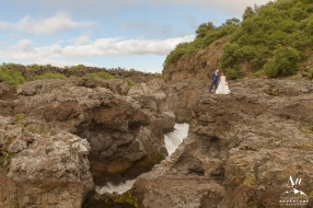 Iceland Wedding - Barnafoss Waterfall