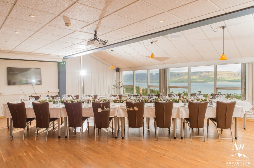 Iceland Wedding Reception with Fjord View