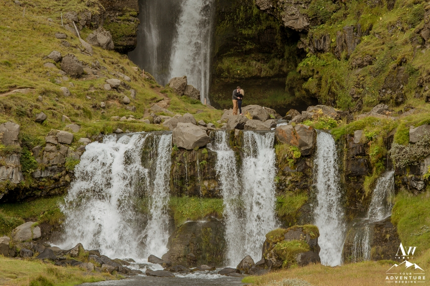 iceland-waterfall-e-session-adventurous-engagement-session