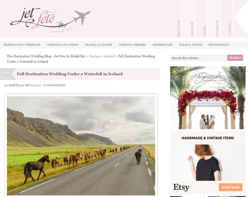 Iceland Destination Wedding Photos on Jet Fete Blog