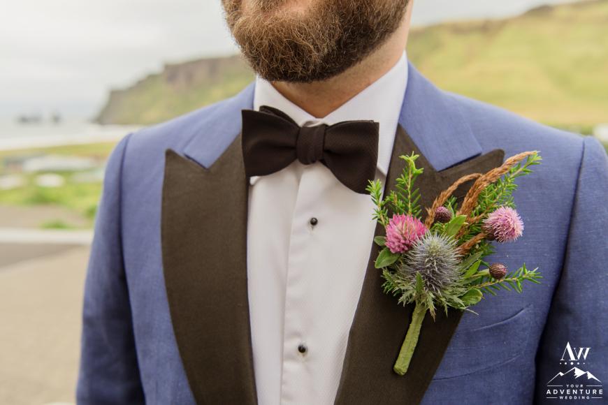 Iceland Wedding Boutineere Flower