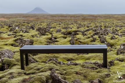 iceland-wedding-rental-black-bench