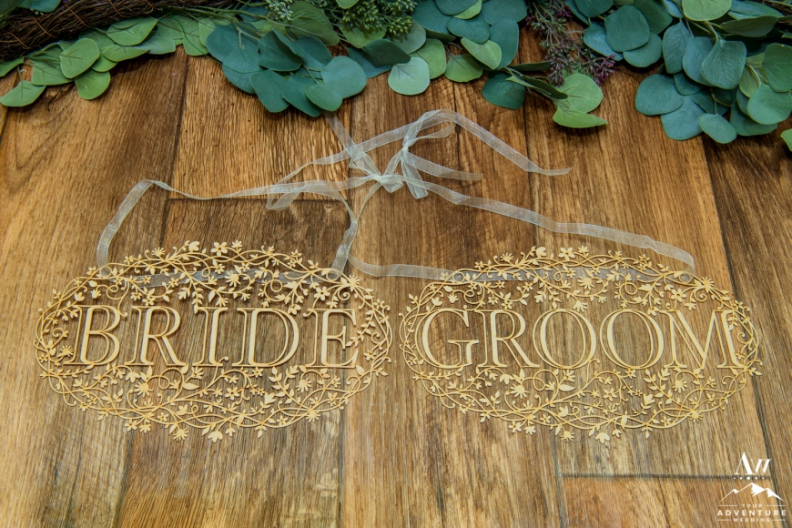 iceland-wedding-rental-bride-and-groom-lazer-cut-wood-chair-sign
