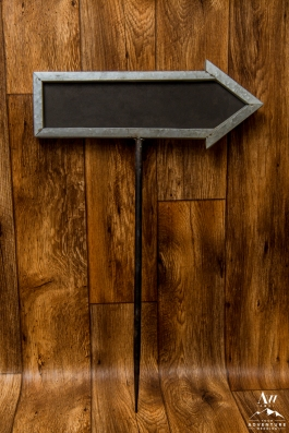 iceland-wedding-rental-galvinized-arrow-sign