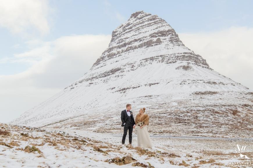 Kirkjufell Mountain Wedding-Iceland